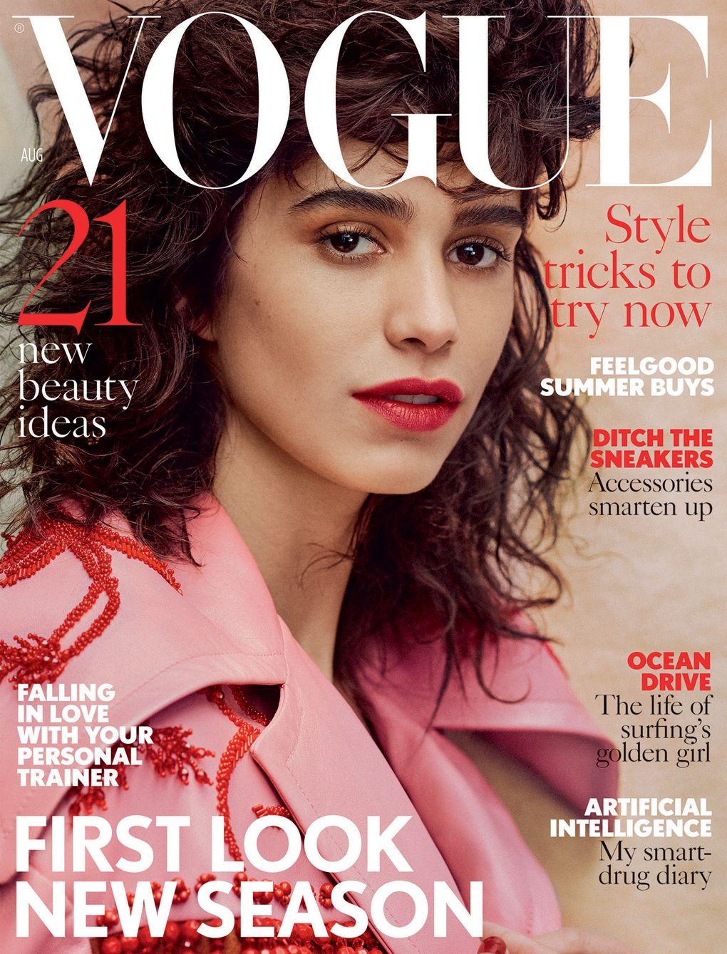 mica arga araz covers british vogue magazine august 2017